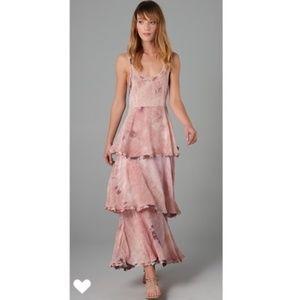 FREE PEOPLE | Tiered Tie Dye Dress Maxi Boho XS